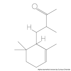 Structural formula of Alpha-isomethyl ionone