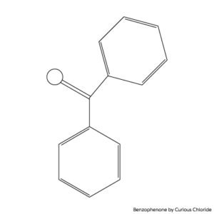 2D structural formula of Benzophenone