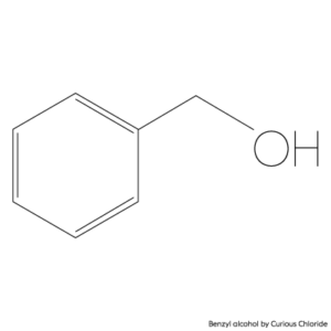 2D structural formula of Benzyl alcohol