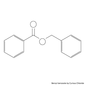 Structural formula of benzyl benzoate