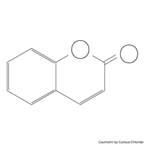 2D structural formula of Coumarin