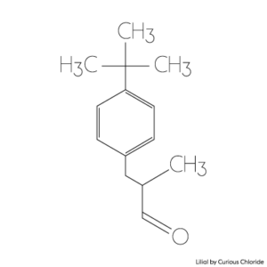 Structural formula of lilial
