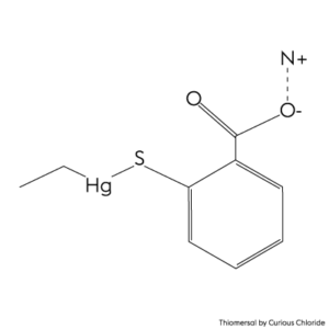 2D structural formula of Thiomersal