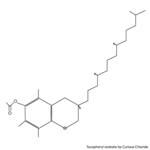 2D structural formula of Tocopheryl acetate