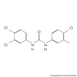 2D structural formula of Triclocarban