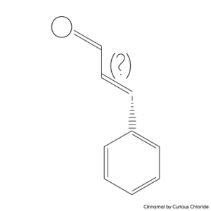 Structural formula of cinnamal