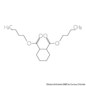 Structural formula of Dibutyl phthalate (DBP)