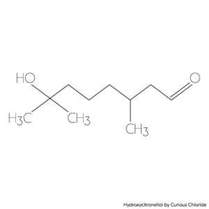 Structural formula of hydroxycitronellal