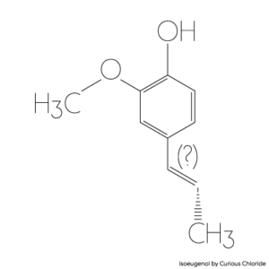 Structural formula of isoeugenol