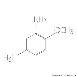 Structural formula P-cresdine